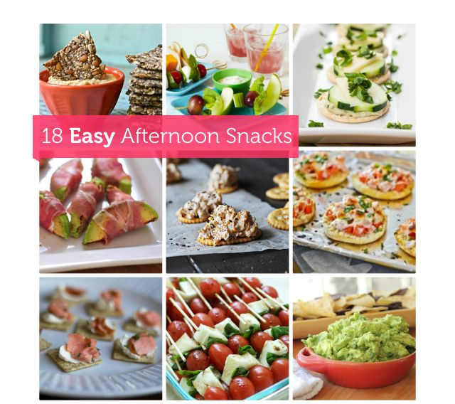 A variety of healthy snack recipes.