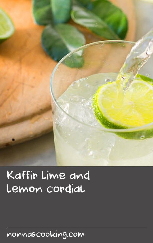 Kaffir lime and lemon cordial | This recipe makes plenty, because you'll want to have it as your drink of choice for a fortnight – it keeps well in the fridge for at least a couple of weeks. I really like the fine texture of the zest, but you can sieve it out if you feel it gets in the way when you drink it.
