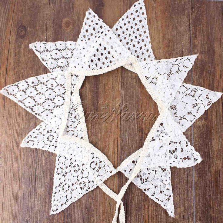 Vintage 2.1M White Cotton Lace 10 Flags Bunting Pennant Banner For Wedding  Holiday Party Decoration Supplies  1SJQ