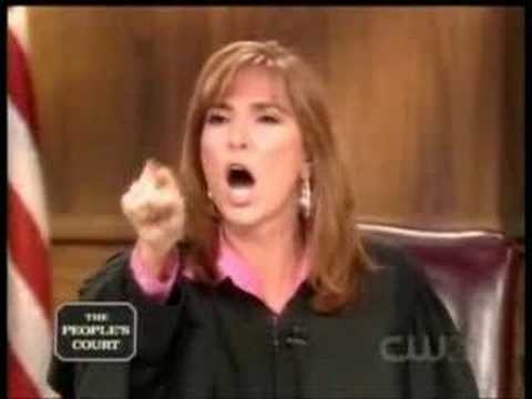 The Peoples Court - Judge Milian Really tells off a guy who needs an attitude adjustment. I love this !