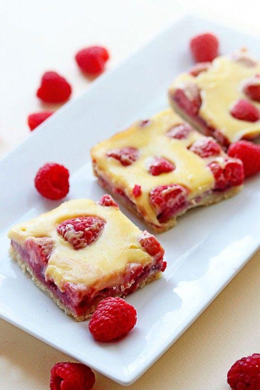 Raspberry Lemon Bars on BHG Delish Dish