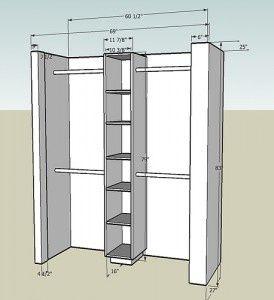 How to build a closet.