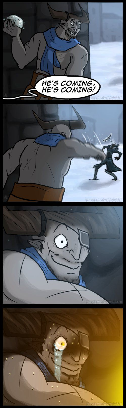 Dragon Age Comic - Snowbull by YukiSamui.deviantart.com on @DeviantArt