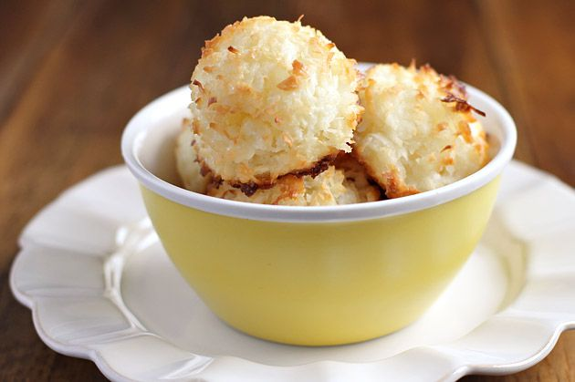 Flour Bakery's famous coconut-macaroons.  Caramelized crispy on the outside, soft and chewy on the inside.