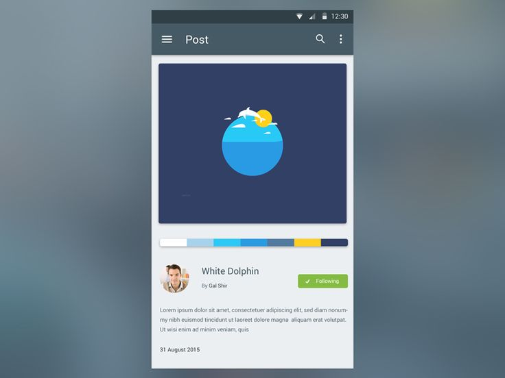 Single Post Page in Material Design // Ali Sayed