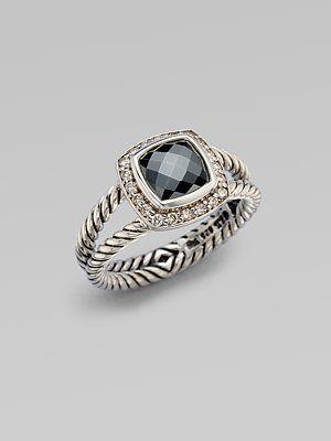 David Yurman - Diamond Accented Hematite Sterling Silver Ring - Saks.com