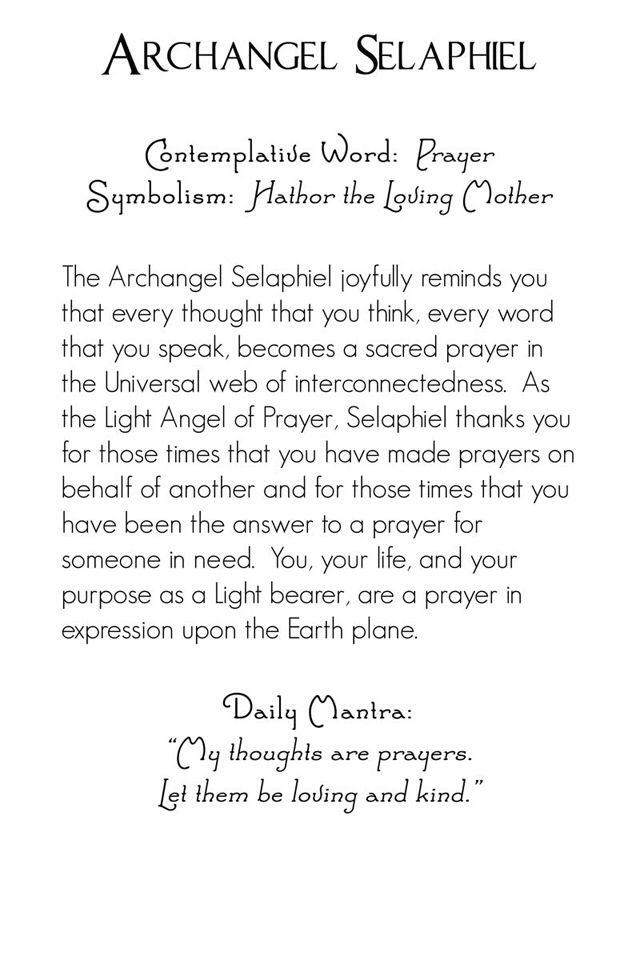 Aartsengel Selaphiel beschrijving