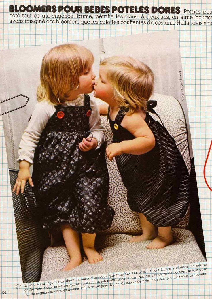 bloomers et salopettes pour bébé filles et garcons.