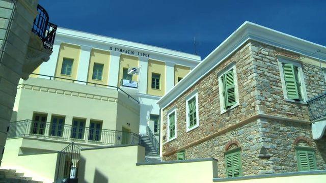 Σύρος - Ερμούπολη   Άποψη του Πανεπιστημίου Αιγαίου - κεντρική είσοδος κτίρια (ΦωτοGallery κοινότητας) #aegean #university #building #campus #pintruaegean #place #Syros #island #Ermoupoli #Hermoupolis  http://my.aegean.gr/gallery/Places/Greece/Syros/Syros_DPSDE_building_University_Aegean_aristeiaacadem_f2_1280hi.jpg.html