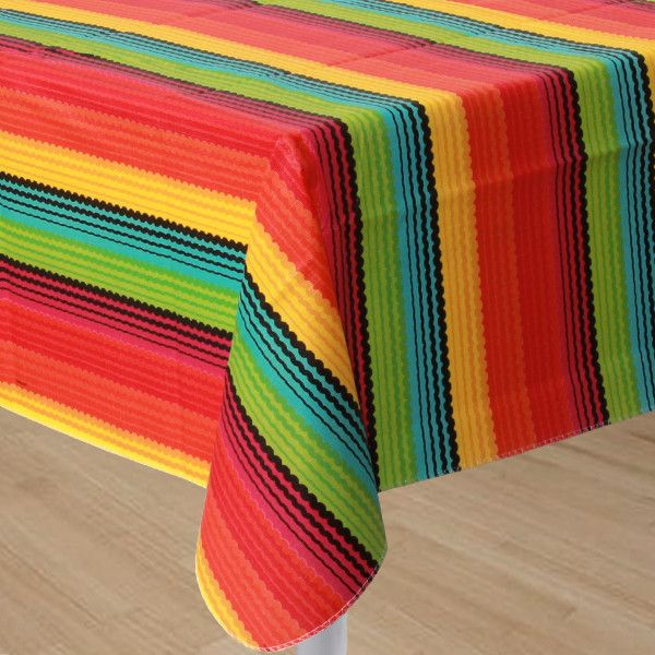 "Fiesta Flannel Back Table Cover,  52"" x 90"" 