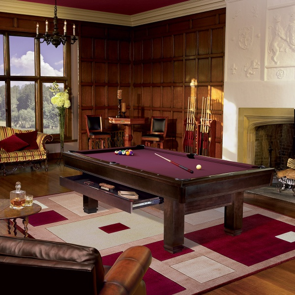 Bring This Exceptional Brunswick Billiards Table with a Transitional Style into Your Home