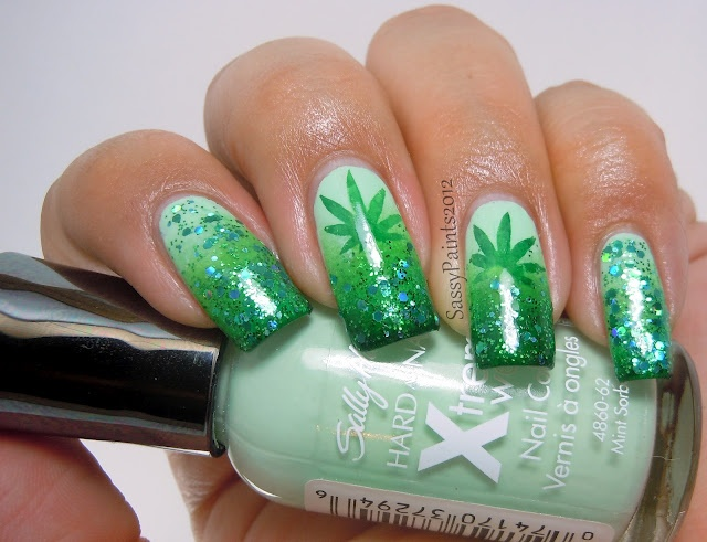 Best 25 weed nails ideas on pinterest long nails matt nails weeds inspired nails by sassypaints nail art gallery prinsesfo Image collections