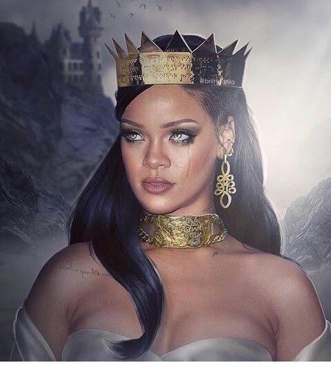 Rihanna z łezką nadziei...