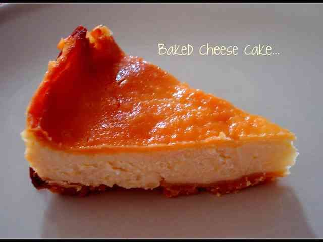 卵なし!超カンタン!ベークドチーズケーキの画像