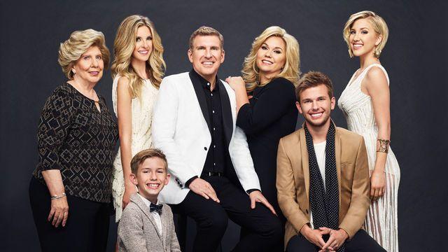 The Chrisleys on Celebrity Family Feud, hosted by Steve Harvey, Sunday, Sept. 11, 2016.