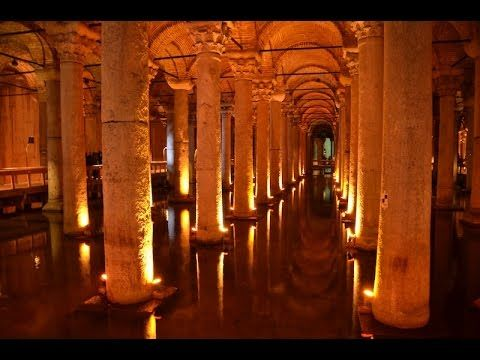 【世界遺産】イスタンブール地下宮殿 subsol cu coloane de sustinere (Basilica Cistern) si imens acvariu?!