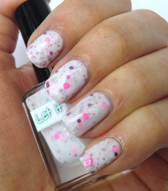 Glitter nail polish - 'I heart neon' by Let it glitter! @ Etsy