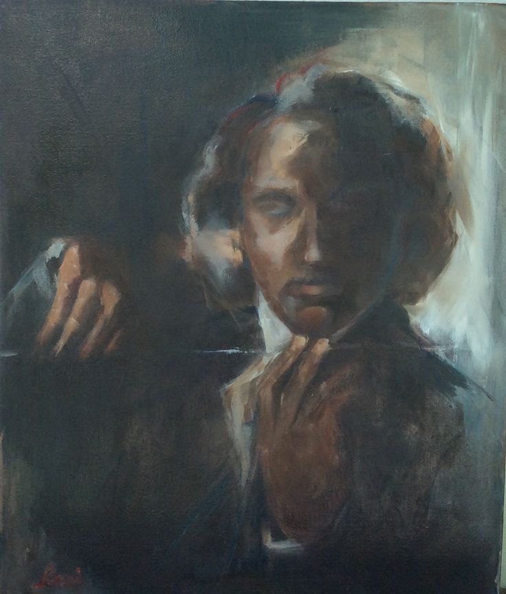 Painting by Rani Pillay. 'D Minor' oil on canvas 500/600 cm