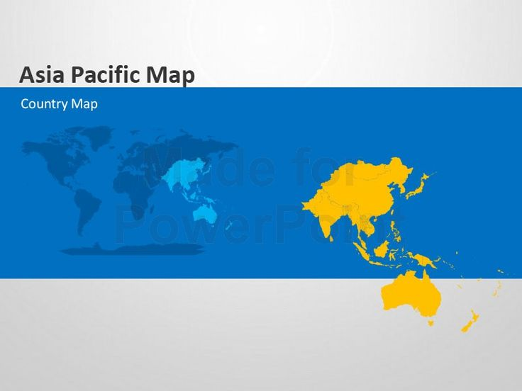 Asia Pacific Map - Editable PowerPoint Template | Editable ...