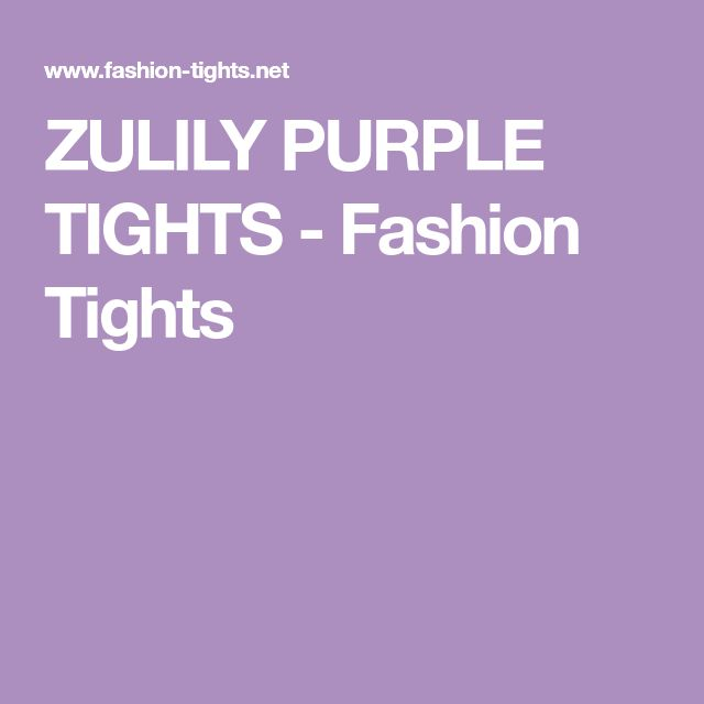 ZULILY PURPLE TIGHTS - Fashion Tights