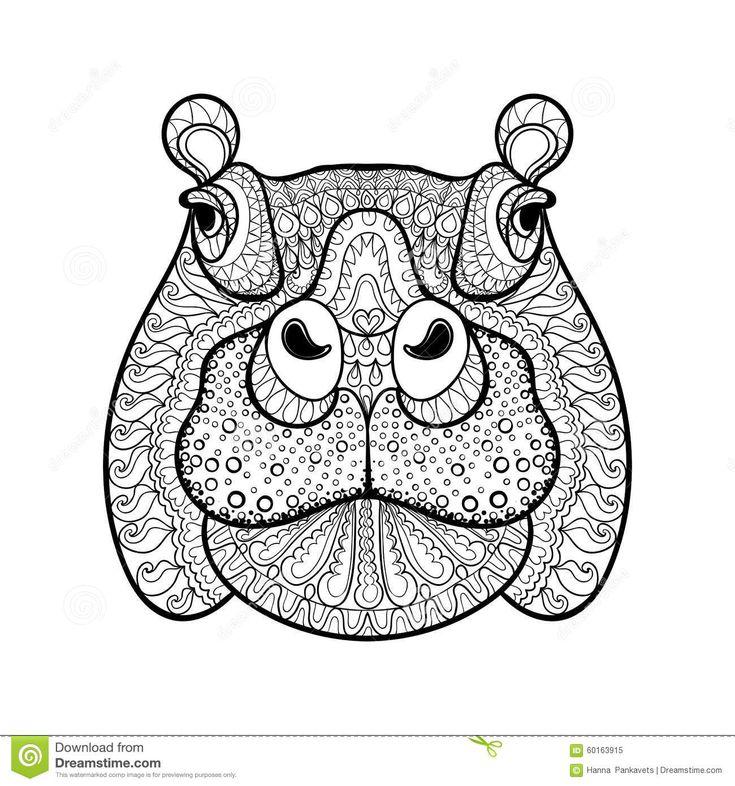 Tête Tribale Tirée Par La Main D'hippopotame, Totem Animal - Télécharger parmi plus de 49 Millions des photos, d'images, des vecteurs et . Inscrivez-vous GRATUITEMENT aujourd'hui. Image: 60163915