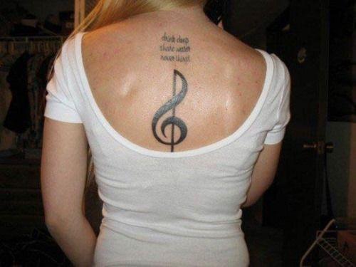172 best tattoo ideas images on pinterest female tattoos for Feminine music tattoos