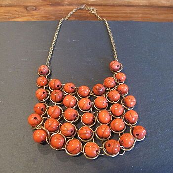 Square Beaded Statement Necklace from Not On The Highstreet