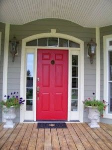 red front doors front door colors red doors the front paint front. Black Bedroom Furniture Sets. Home Design Ideas