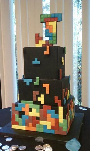 Schön #KatieSheaDesign ♡❤ ❥ Tetris Cake