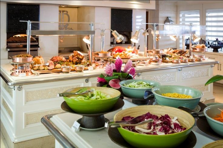 Taste of the West Indies buffet at Bajan Blue Restaurant at Sandy Lane