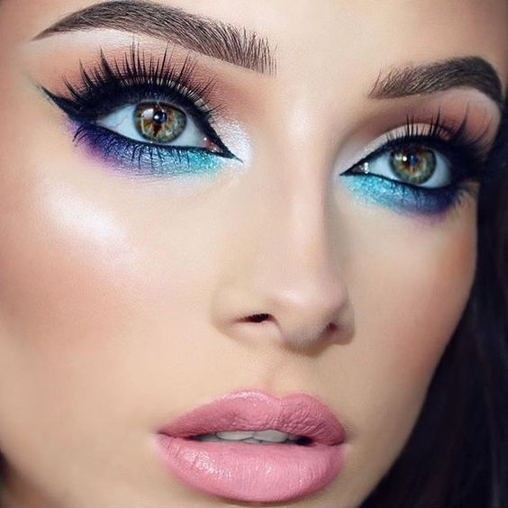 Galaxy Makeup Look: 21 cool ideas for the makeup of Galaxy Eye