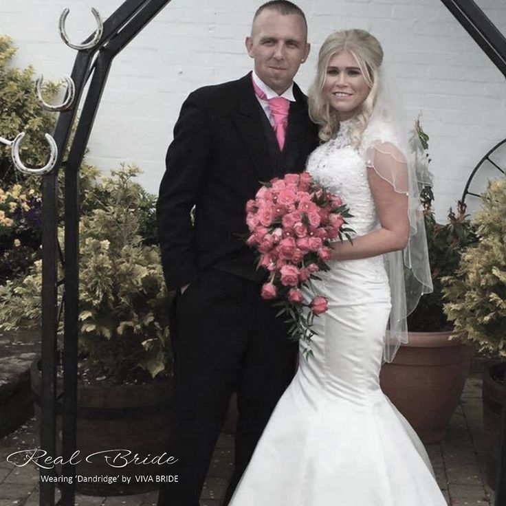What a #stunning photo of Leanne wearing 'Dandridge' #weddingdress on her #weddingday  Could this be 'the one' for you?  Please share your photos with us by tagging us at #lovevivabride