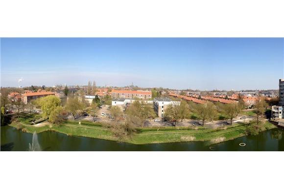 Uitzicht op de Indische buurt vanaf het appartement aan de Molukkenstraat 3 R