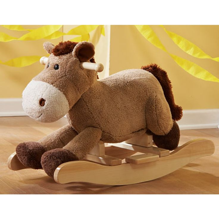 best 25 plush rocking horse ideas on pinterest best baby rocker baby animal nursery and baby. Black Bedroom Furniture Sets. Home Design Ideas