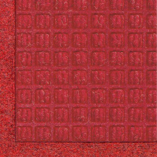 """Andersen 280 Solid Red Polypropylene WaterHog Fashion Entrance Mat, 10' Length x 3' Width, For Indoor/Outdoor by Andersen. $115.64. No other mat in the industry traps water and dirt so effectively. WaterHog mats are constructed of rubber reinforced face nubs and the """"waffle"""" design provides crush proof scraping action. Raised, """"Water Dam"""" borders trap dirt and water keeping floors cleaner and safer. These mats are perfect indoors or out, especially outside your front door..."""