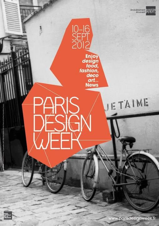 Paris #Design Week #Poster http://www.parisdesignweek.fr/en/