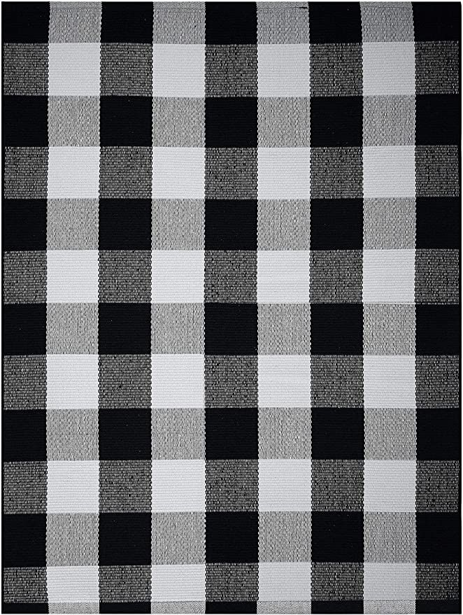 Amazon Com Farmhouse Buffalo Check Plaid Rug 36x48 Large Black And White Outdoor Rug Buffalo Plaid Front Door Mat Fr In 2020 Porch Rug Plaid Rug Front Door Mats