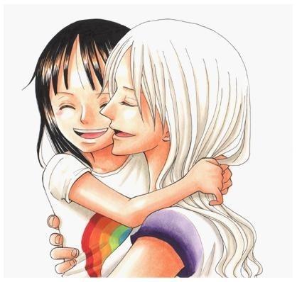Olivia e Robin... Mãe e filha... :3 #onepiece