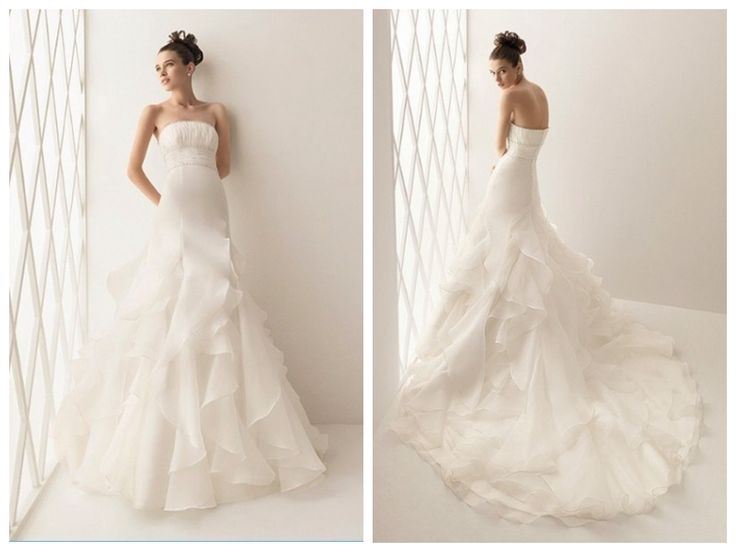 Elegant Layered Wedding Dress