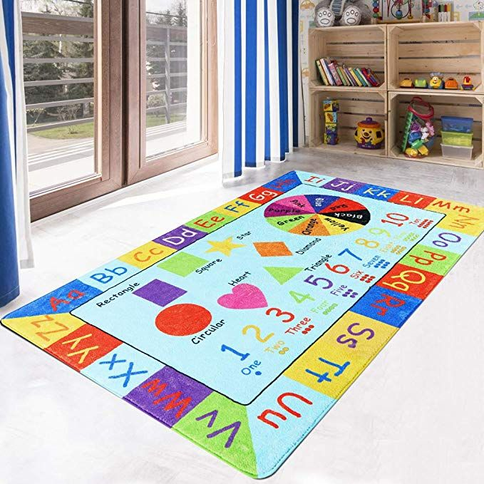 Livebox Play Mat Faux Wool Kids Play Area Rugs 3 X 5 Non Slip