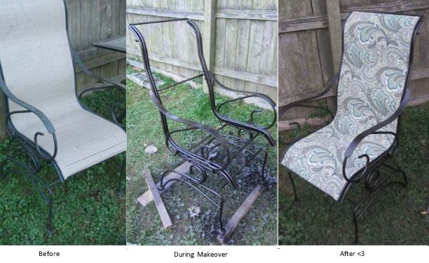 Recover patio chairs