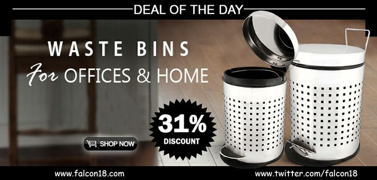 Dispose of the waste in your home or office in an upscale manner. The Perforated Pedal Bin has enough capacity, simple to utilize, and is not difficult to clean!  Shop online and profit the 31% rebate offer.   Click to buy:- http://www.falcon18.com/Ridhi-Sidhi-Perforated-Pedal-Bin-3Ltr.htm?1038484/BM91901458