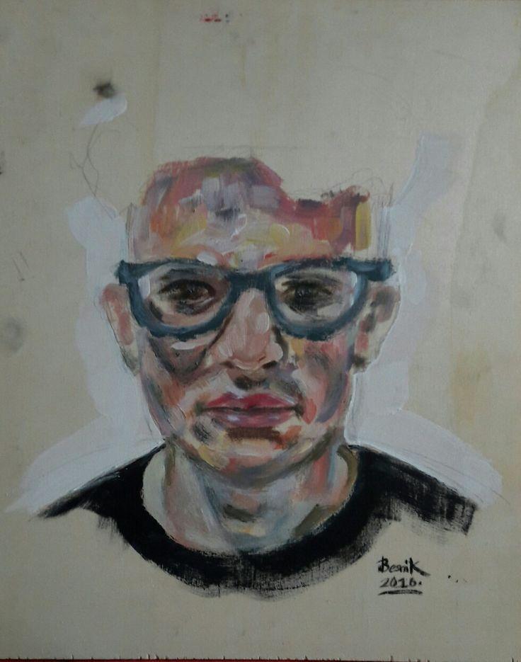 acrylic painting 2016 40x50 Besnik Lushtaku