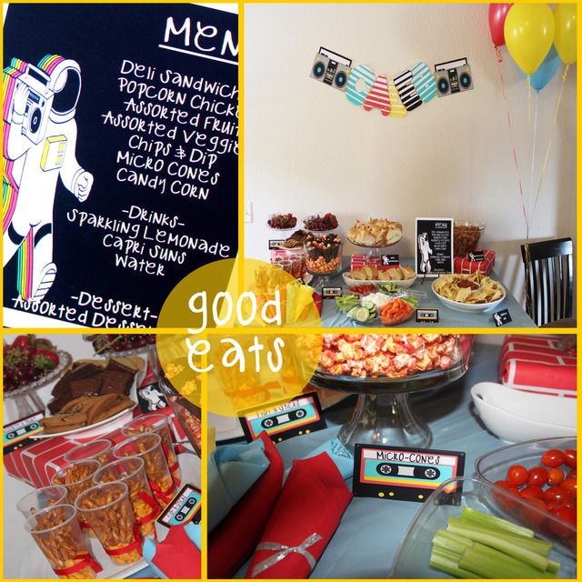Old school hip hop birthday party ideas hip hop decade for Old school party decorations