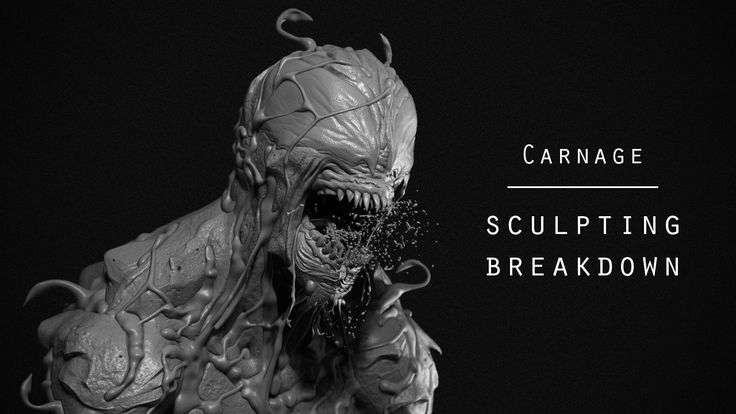 Carnage symbiote - Sculpting breakdown on Vimeo
