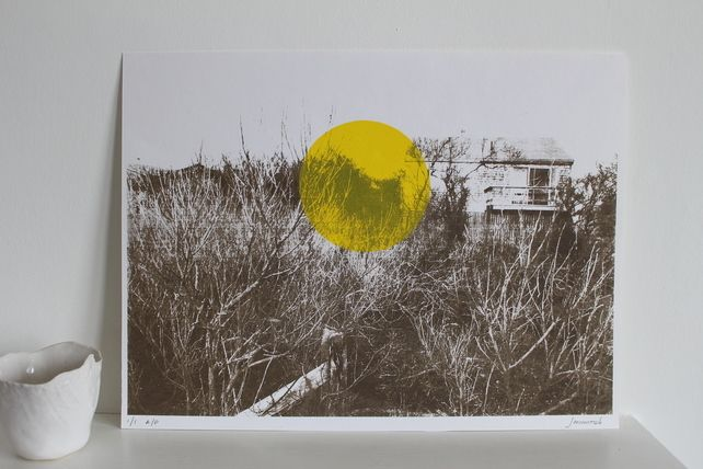 Landscape screen print (yellow circle) £40.00