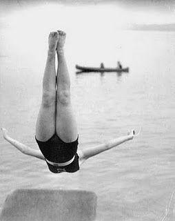 By John Gutmann: Girls, John Gutmann, Jumping, Lakes, Schools Memories, Washington States, Black White, Swan Diving, Vintage Photo