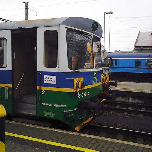 Motorový vůz 810 221-2 Železnice Desná Foto mobilem