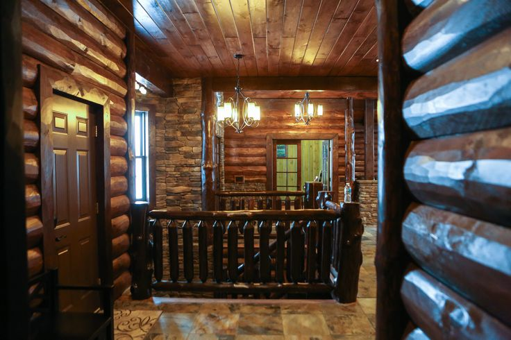 #log home #log cabin #rustic #log siding #paneling #log railing