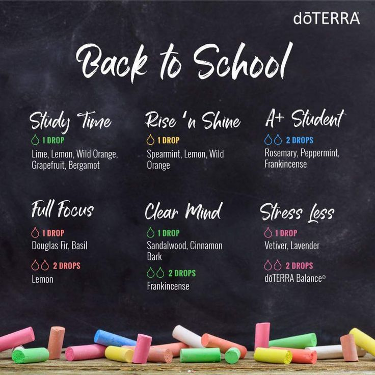 Back To School Essential Oil Diffuser Blends For Kids And